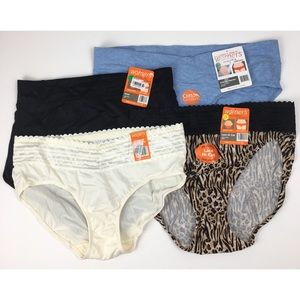 4 pairs Warner's panty bundle